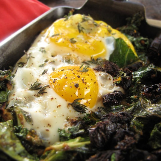 Baked Egg with Sun-Dried Tomato, Feta and Kale | The ...