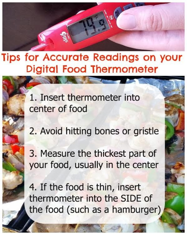 tips for accurate readings of food thermometers