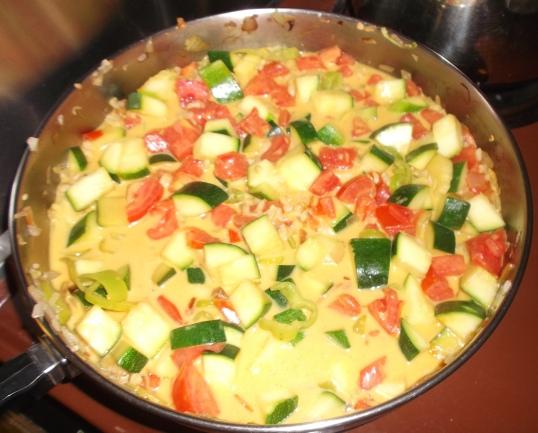 zucchini with coconut milk