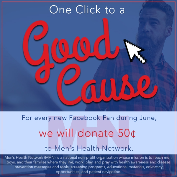 one click to a good cause - men's health network
