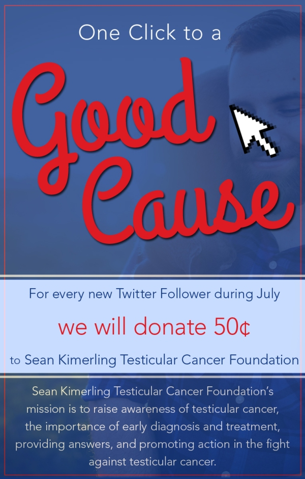 oen click to a good cause - sean kimerling charity for july