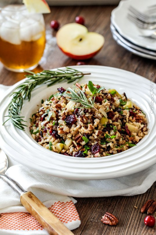 apple cranberry wild rice pilaf