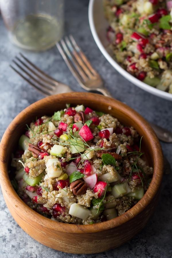 fennel and pomegranate quinoa salad