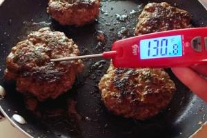 testing hamburgers