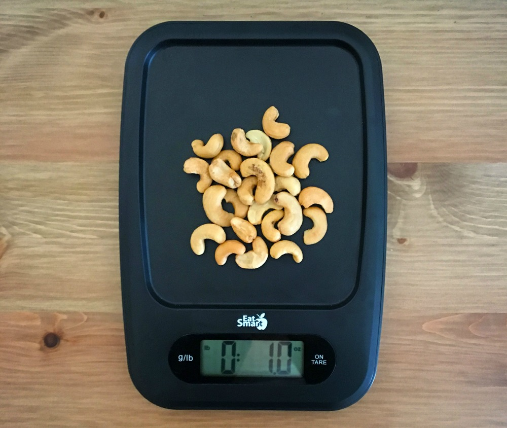 eatsmart kitchen scale weighing nuts
