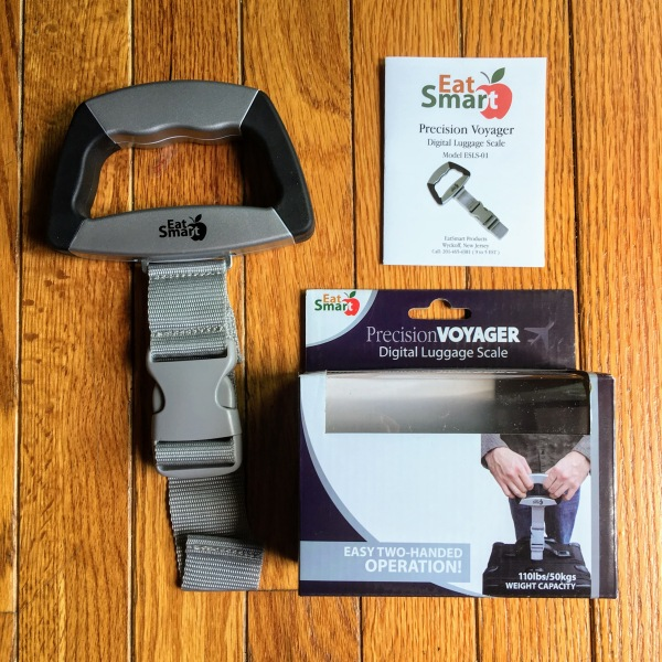 EatSmart Precision Voyager Luggage Scale - Inside the Box