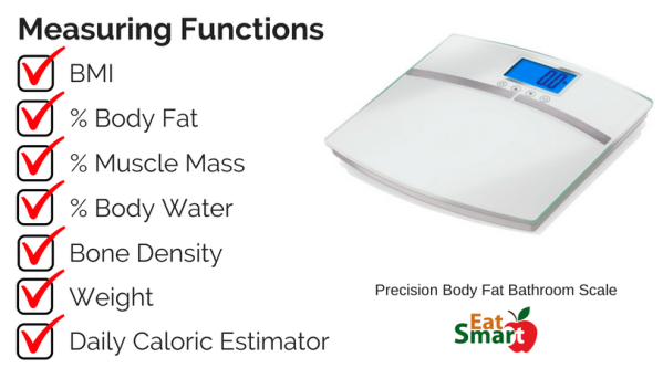 EatSmart Body Fat Digital Bathroom Scale