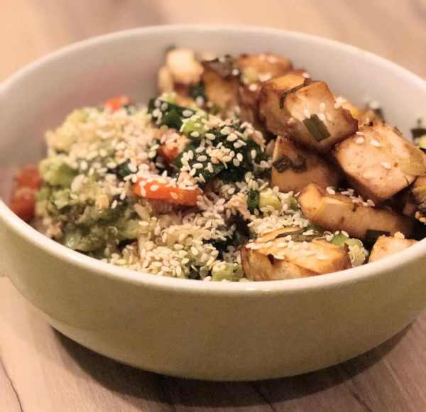 tofu quinoa broccoli stir fry image 2