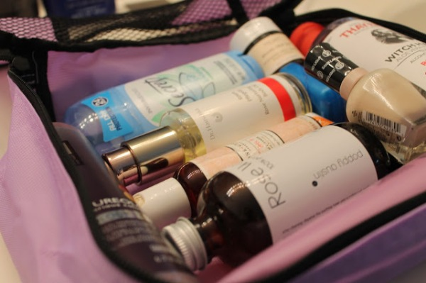 Create a permanent toiletries kit with packing cubes