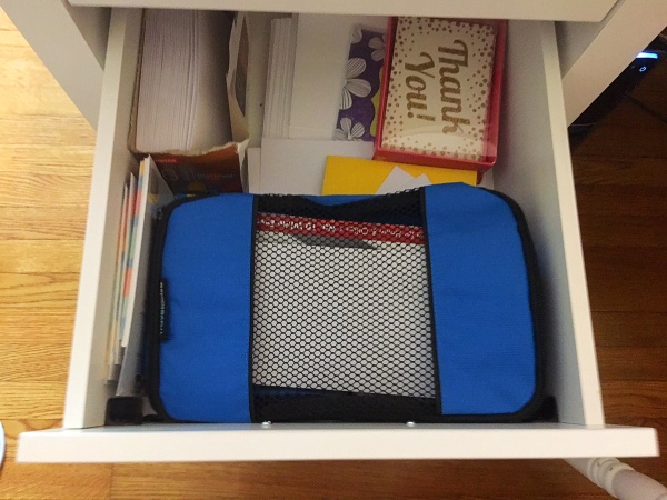 Organize office supplies-travelwise