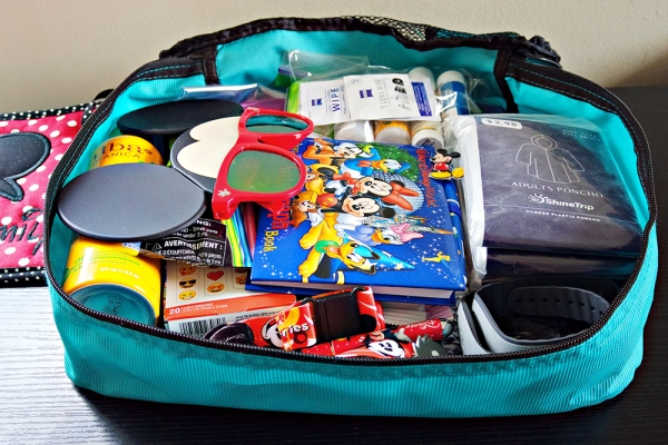 How to Pack an Emergency Stroller Kit for Disney-packing cubes